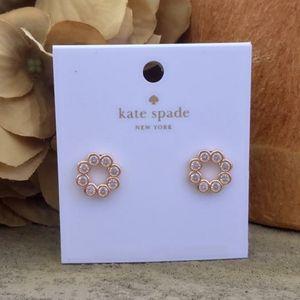 Kate Spade Rose Gold Full Circle Crystal Earrings